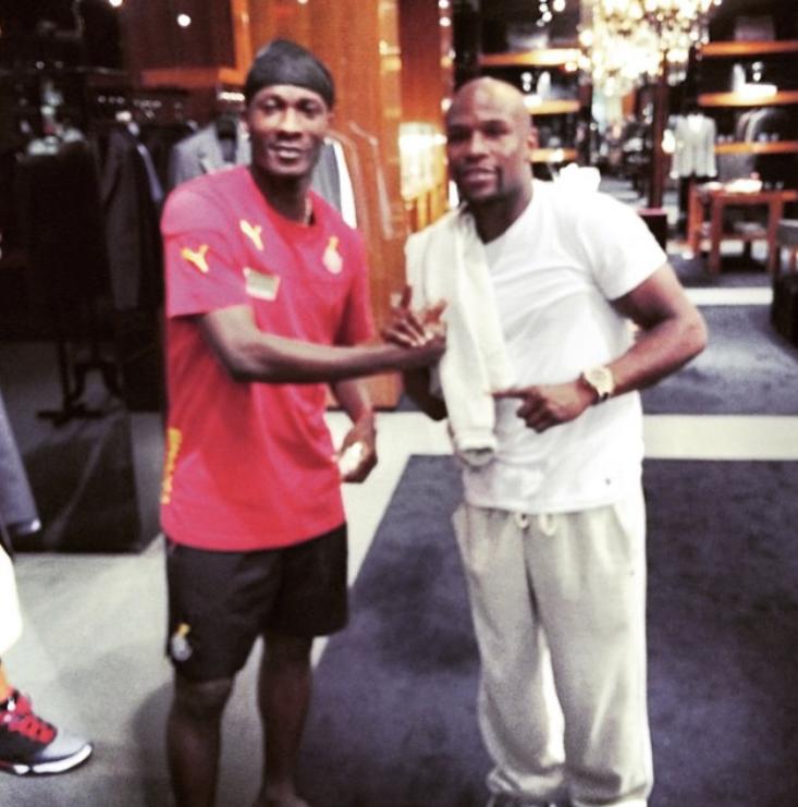 I rushed out to see Mayweather like an ordinary fan- Blackstars Captain Asamoah Gyan reveals