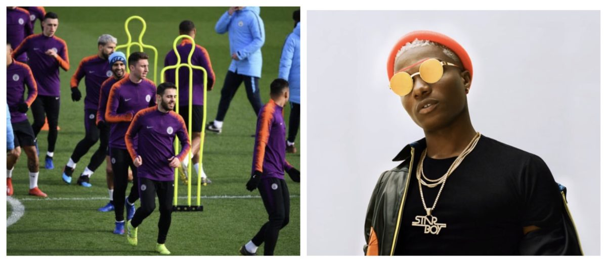 Man City use Wizkid lyrics as caption in Twitter posts