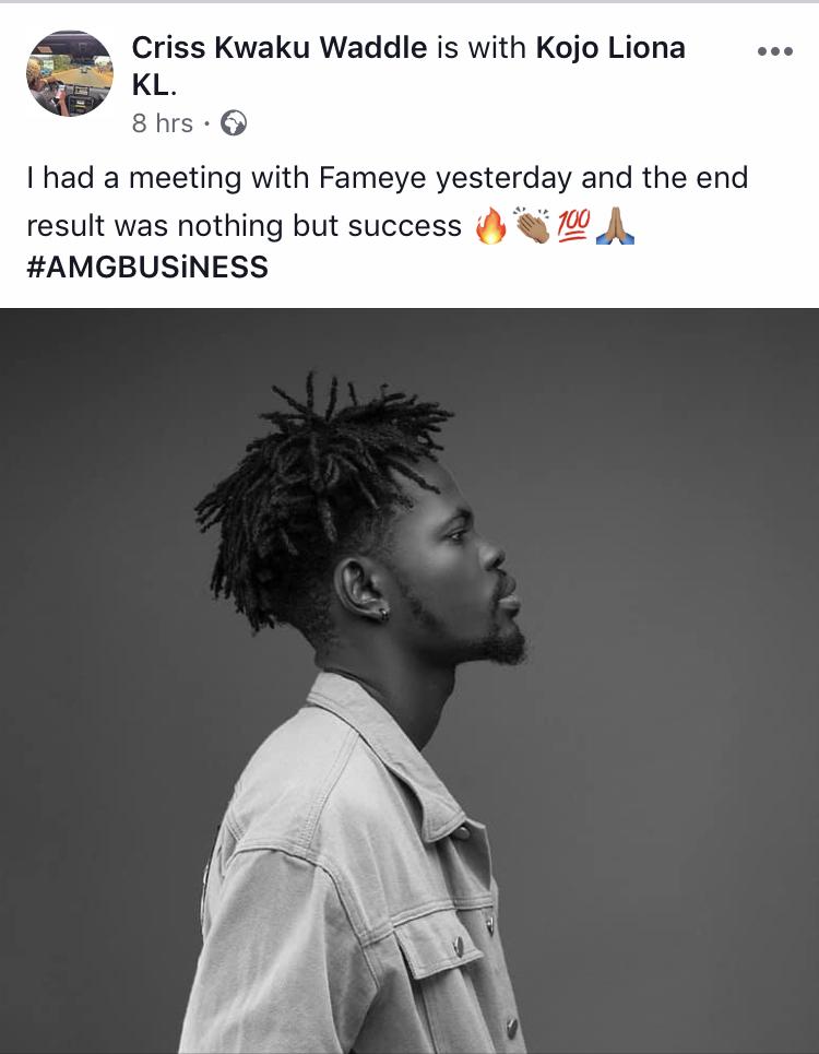 Fameye joins Medikal as AMG Business signee