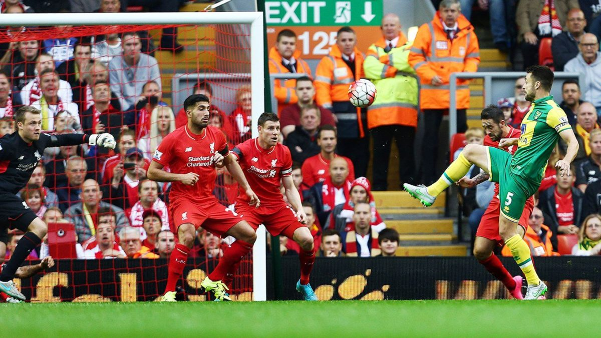 Liverpool slaps Norwich with 4 goals to nil in first-half of EPL opening match