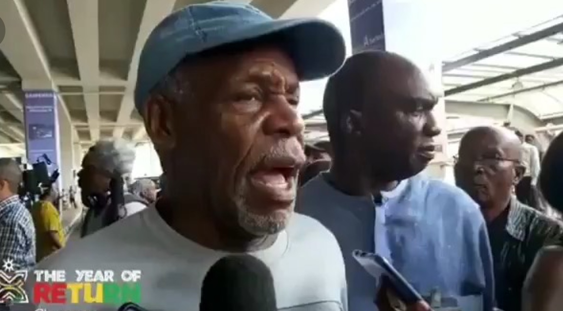 Danny Glover arrives in Ghana as Part of the 'Year of Return' Initiative