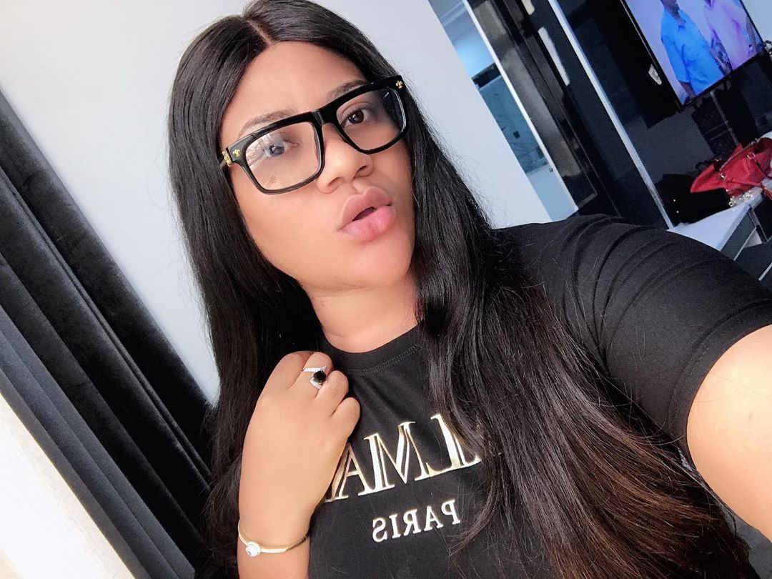 Actress Nkechi Blessing Sunday and her lover