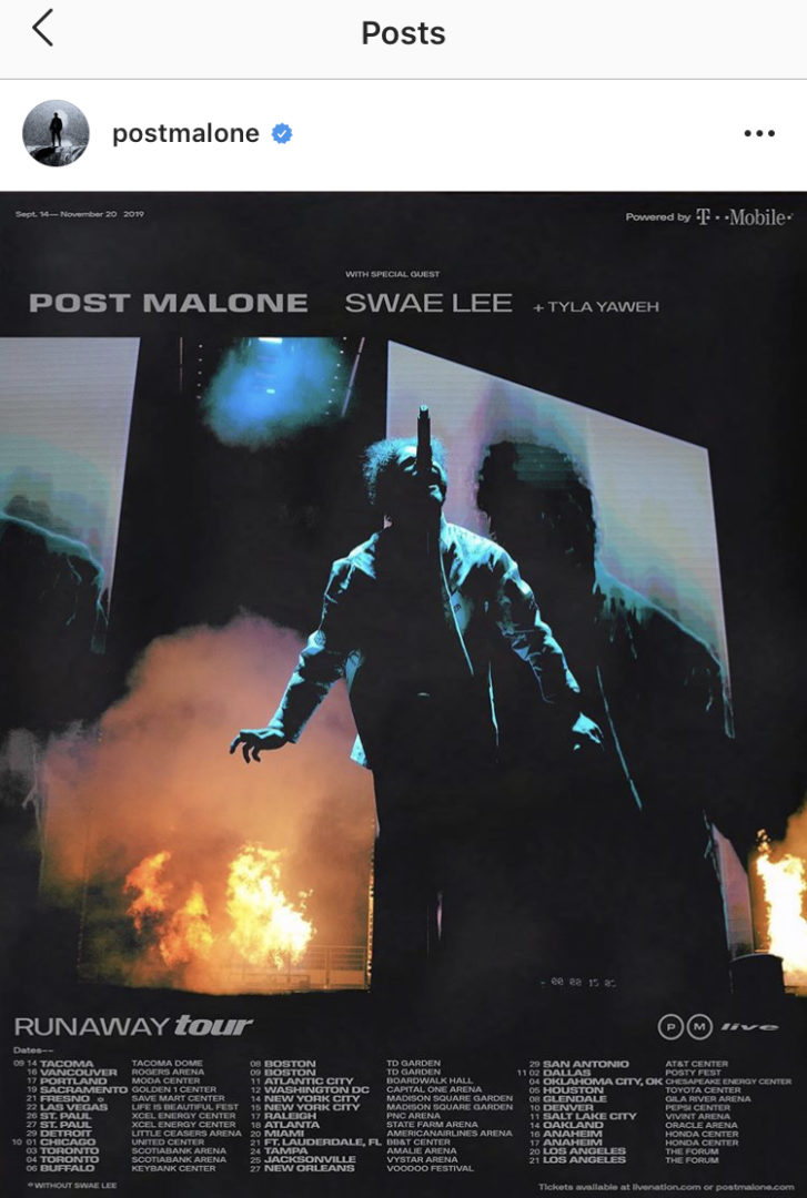 Post Malone to go on Tour with Swae Lee