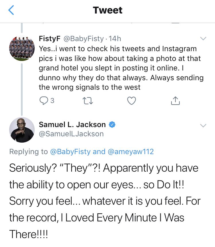 """I posted what caught my eyes""- Samuel L. Jackson retaliates to backlash"