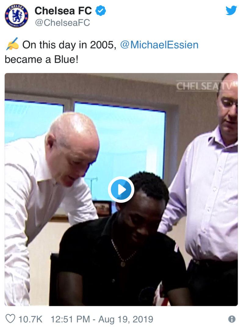 Chelsea And UEFA Glorify Michael Essien
