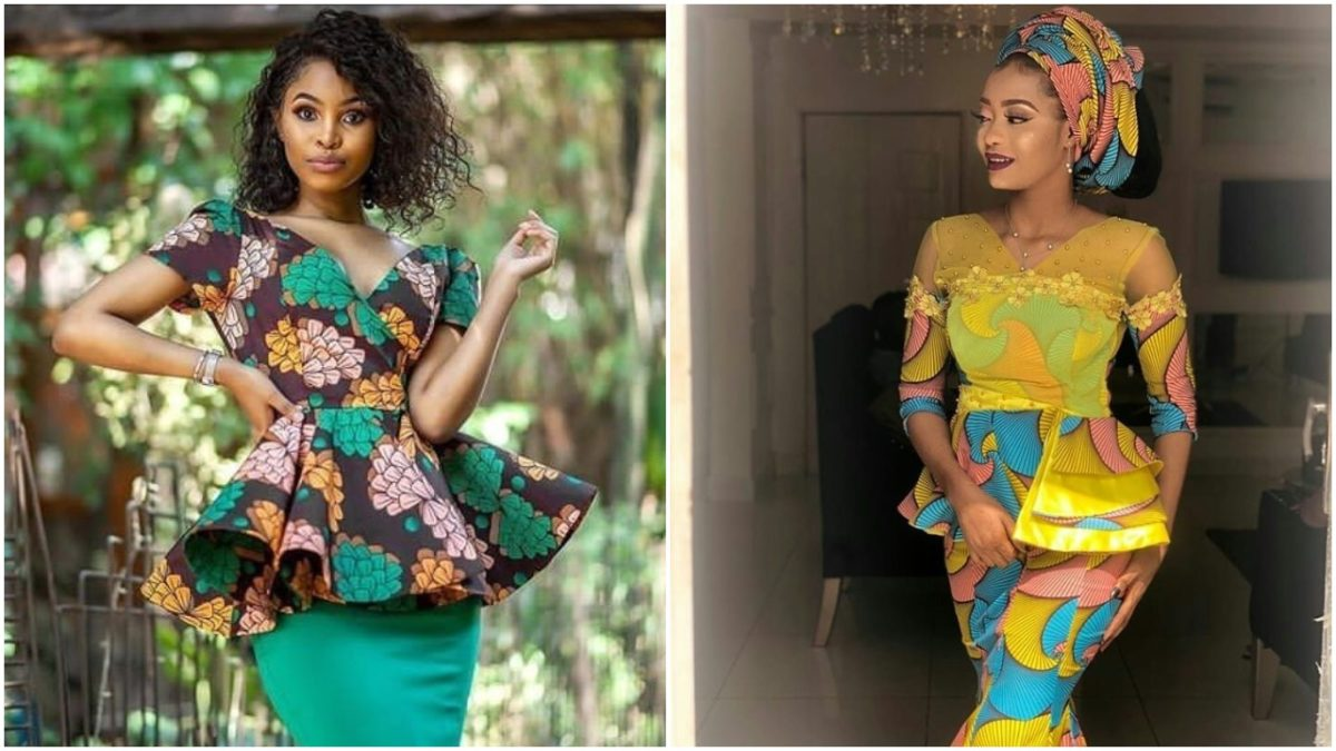 Hey Ladies!!Check out these Trendy Ankara /Lace Blouses