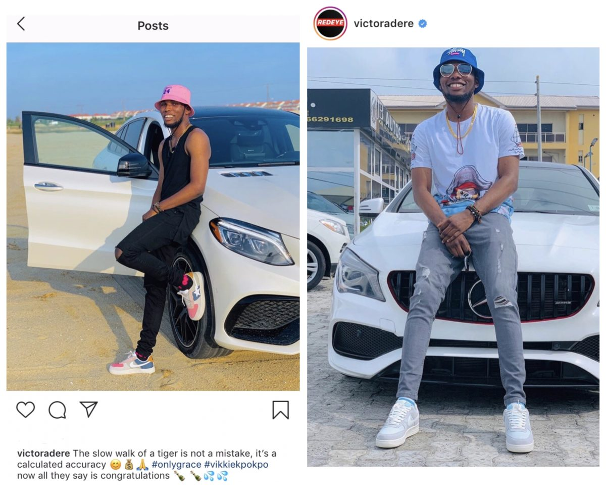 Victor AD buys himself a new Benz, shows off on Instagram