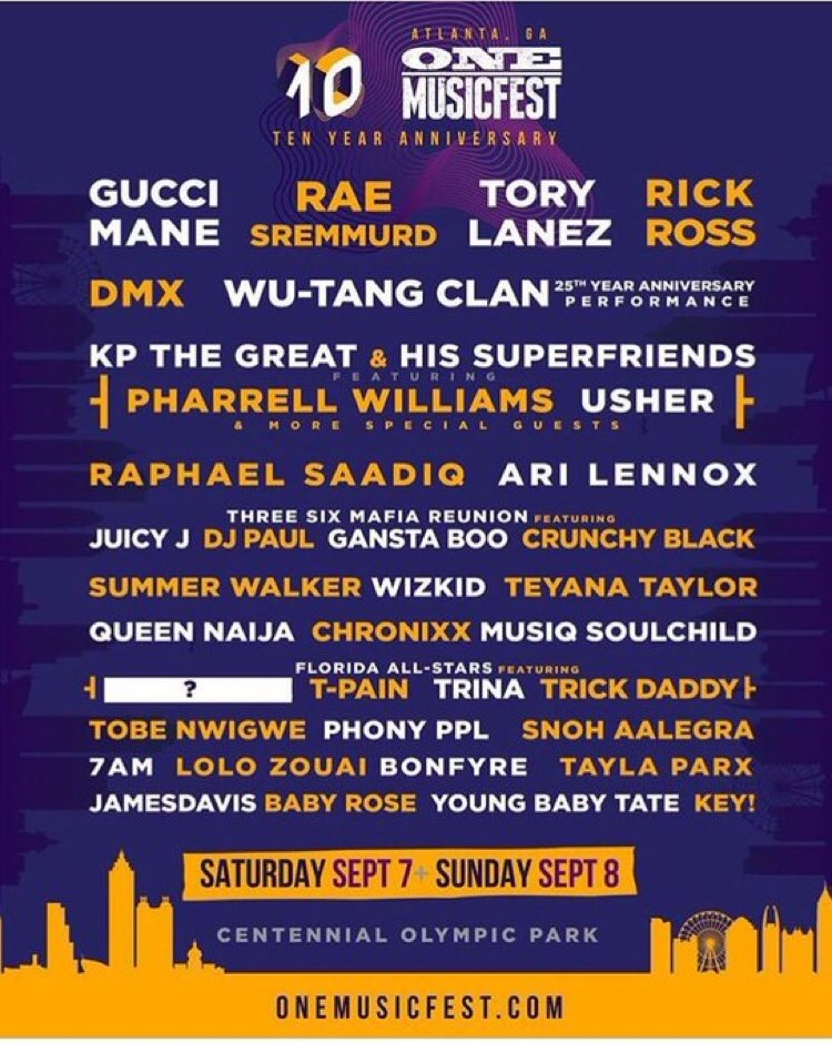 Wizkid becomes the only African artiste booked to perform at the One Music Fest in Atlanta tonight