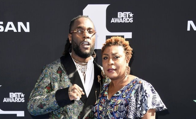 I was outside getting a drink, that's why my mum took the BET Award for me- Burna Boy
