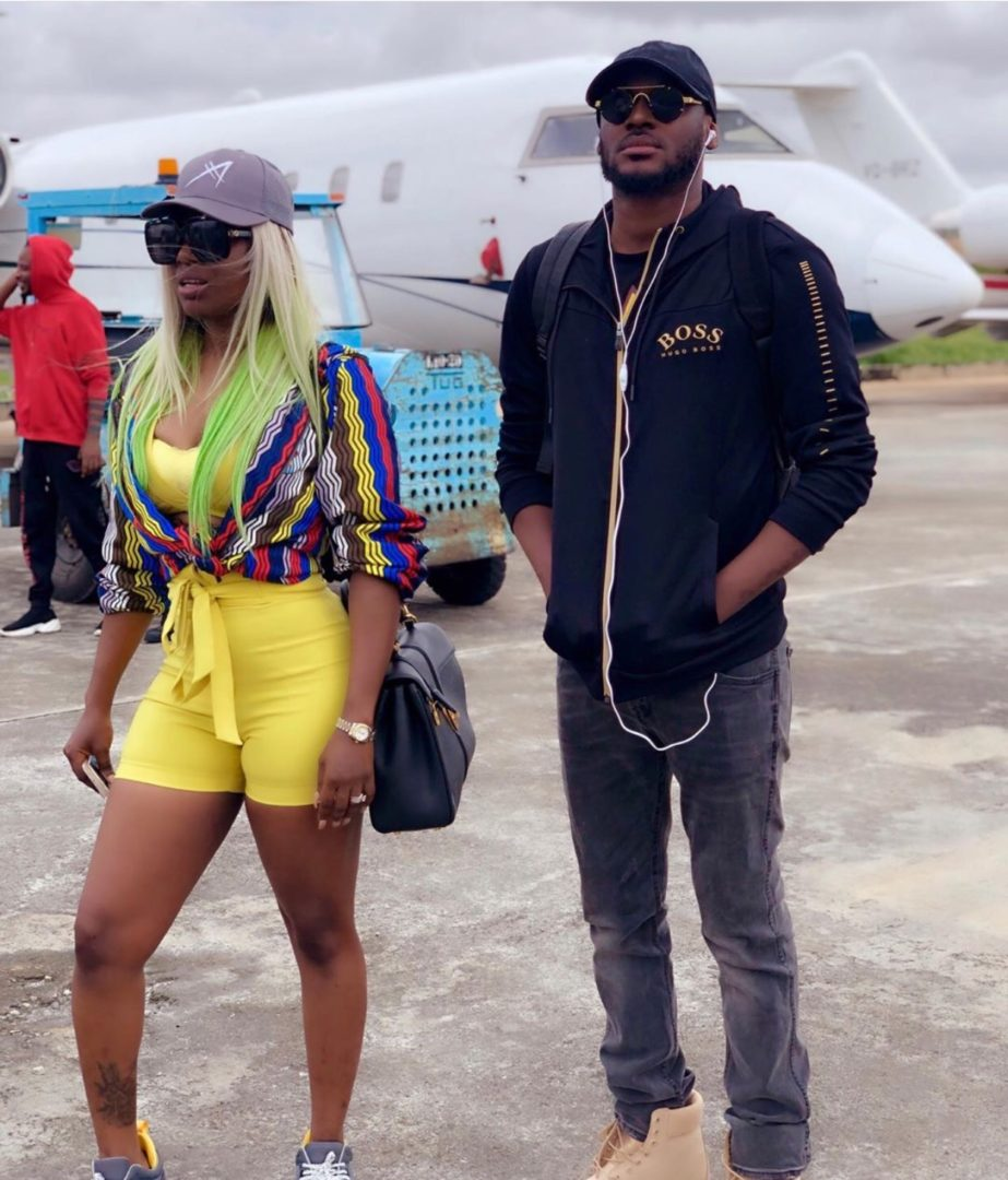 Annie Idibia and Legendary Husband 2face stuns in new photos at Abuja Airport