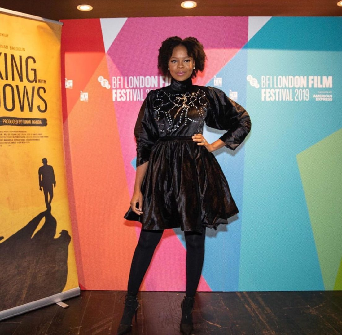 Zainab Balogun looks gorgeous in black costumed gown