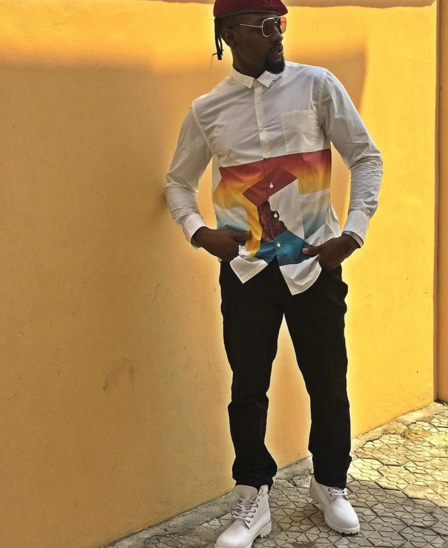 Gbenro Ajibade uploads cute photo as he announces his arrival to his fans.