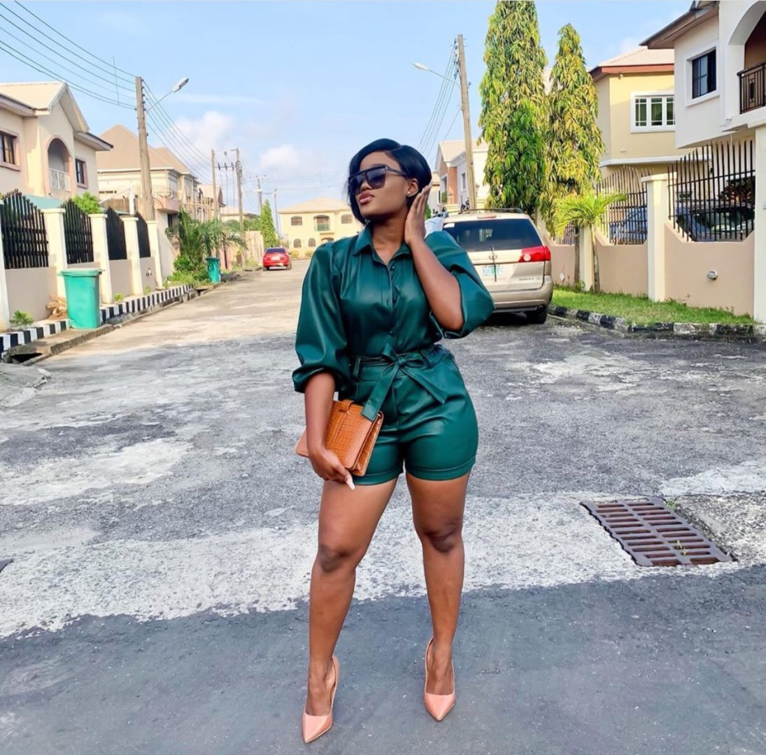 Cee-C looks stunning in green In new photos