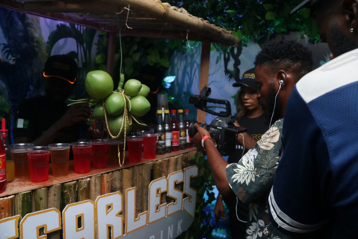 rounds of Fearless Energy Drink served at Teni Live 2019