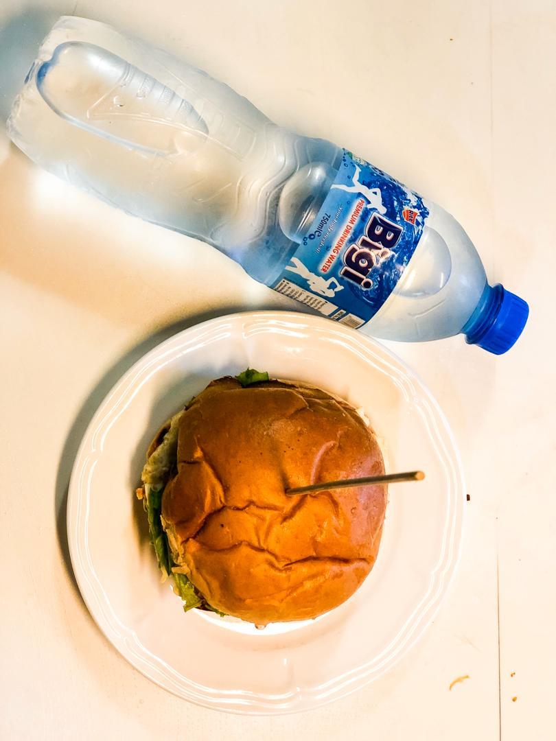 Bigi Premium Table Water and Hamburger