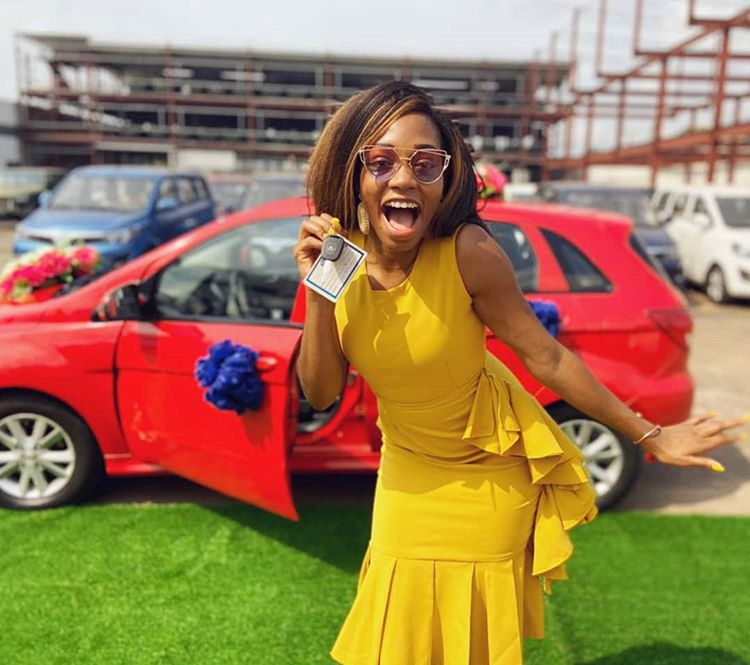 Khafi Kareem Flaunts Her New Car