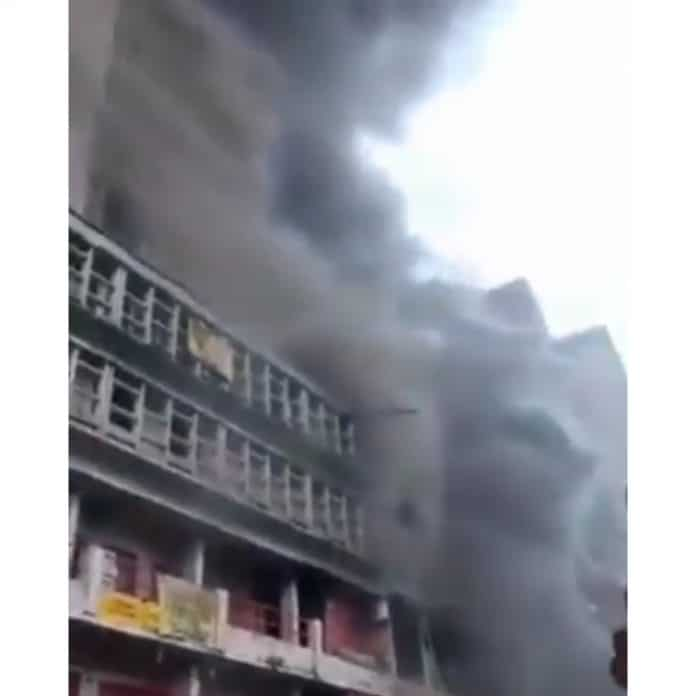 Fire incident rampages famous Balogun Market in Lagos again