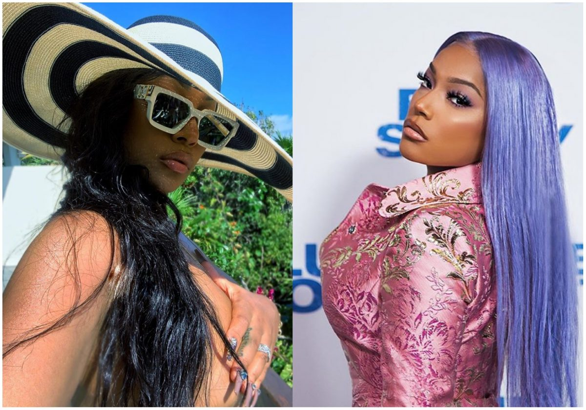 Burna Boy's girlfriend, Stefflon Don tension IG with new topless photo