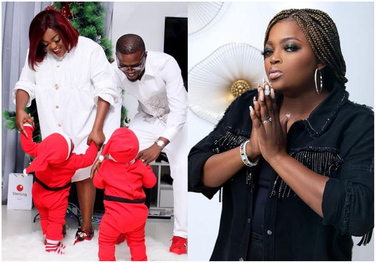 Actress Funke Akindele finally unveils faces of her adorable twins