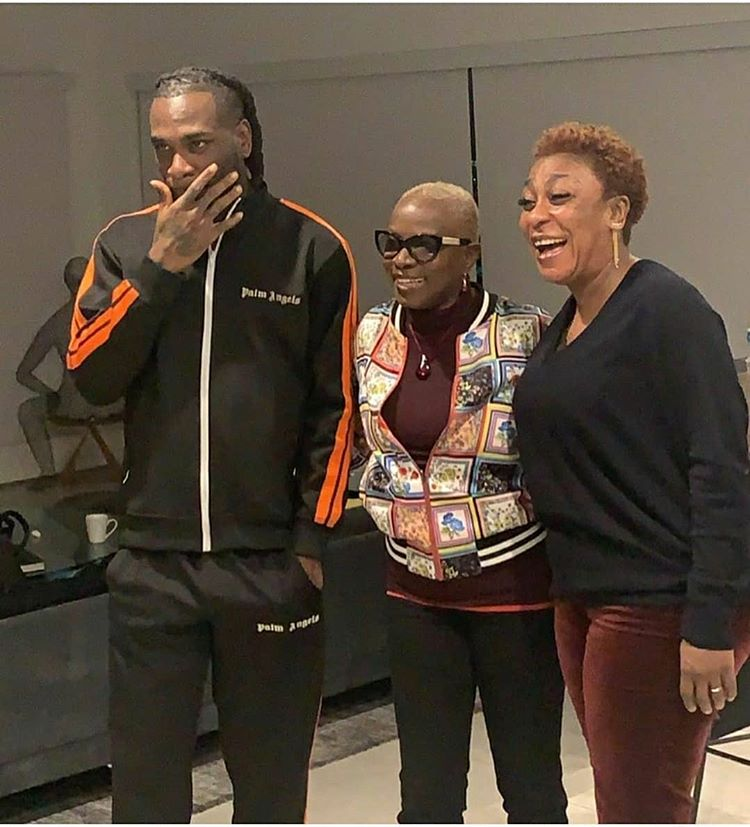 Moment Angelique Kidjo meets Burna Boy and him Mum in Los Angeles