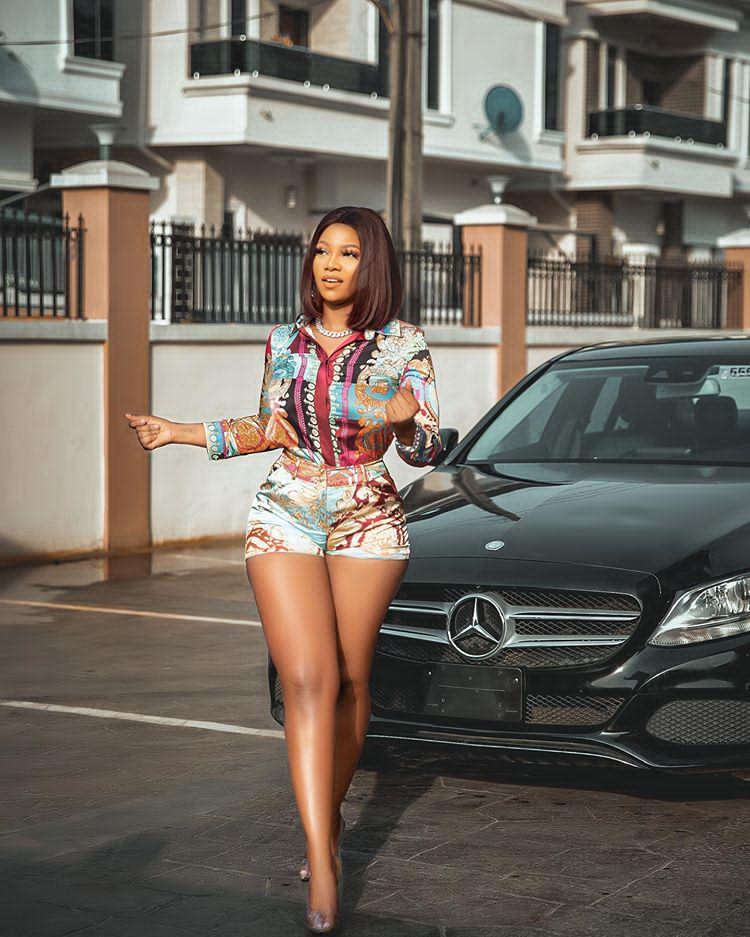 Tacha's 2016 Mercedes-Benz C300 4MATIC worth N14 million naira