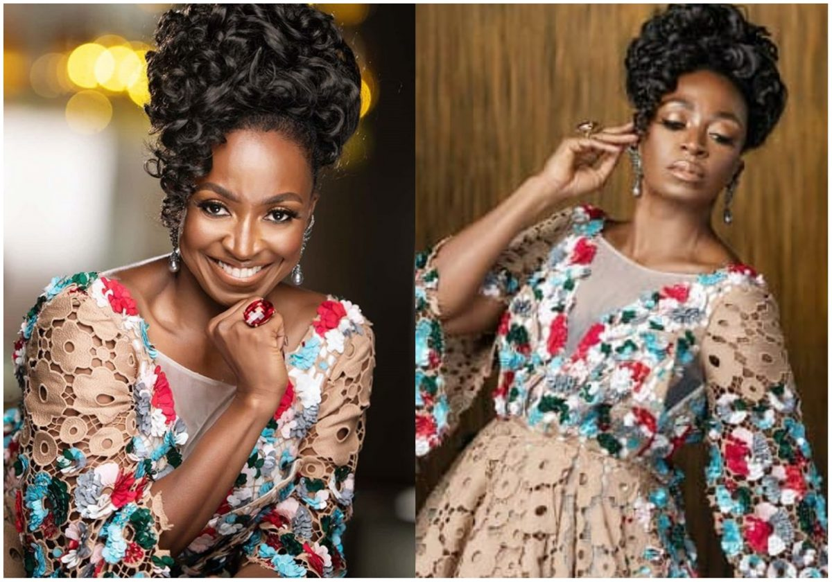 Kate Henshaw stuns out in lovely gown to welcome fans into February