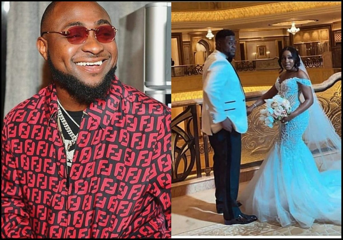 Moment Davido asked his brother, Adewale to cry during his wedding in Dubai