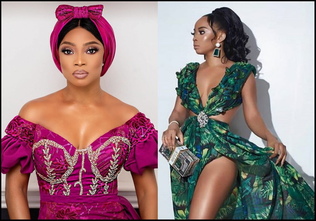 Toke Makinwa draws inspiration from Jlo's iconic Versace dress to the Grammy's
