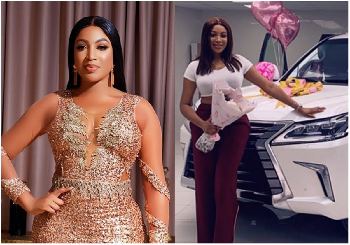 Dabota Lawson celebrates as she acquires a new Lexus 570 whip (Video)