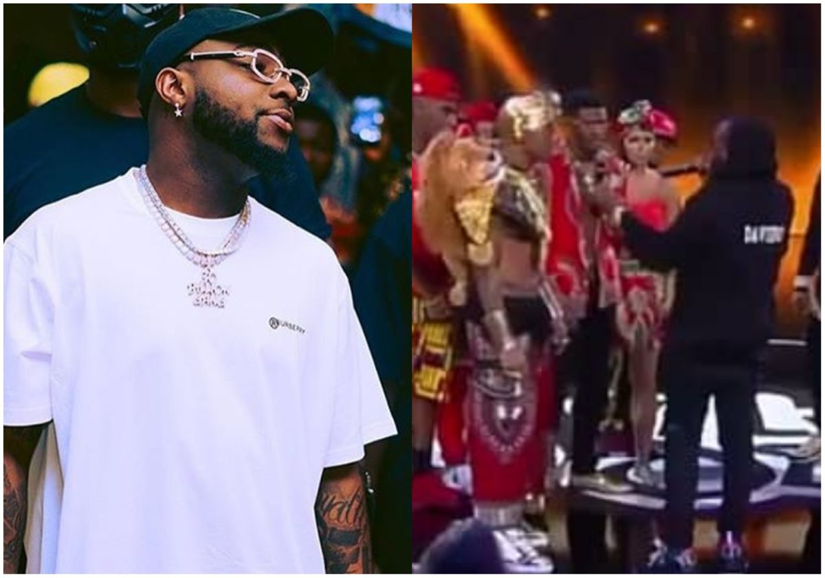 Davido trolling people with freestyle rap at the Wild'NOut show