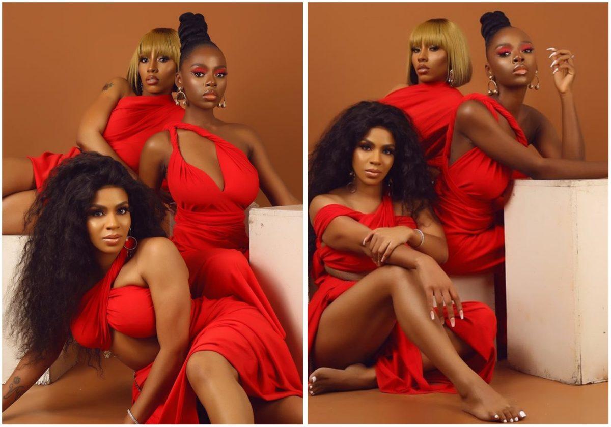 #BBNAIJA: Venita, Mercy and Diane tension IG with sexy valentine photoshoot