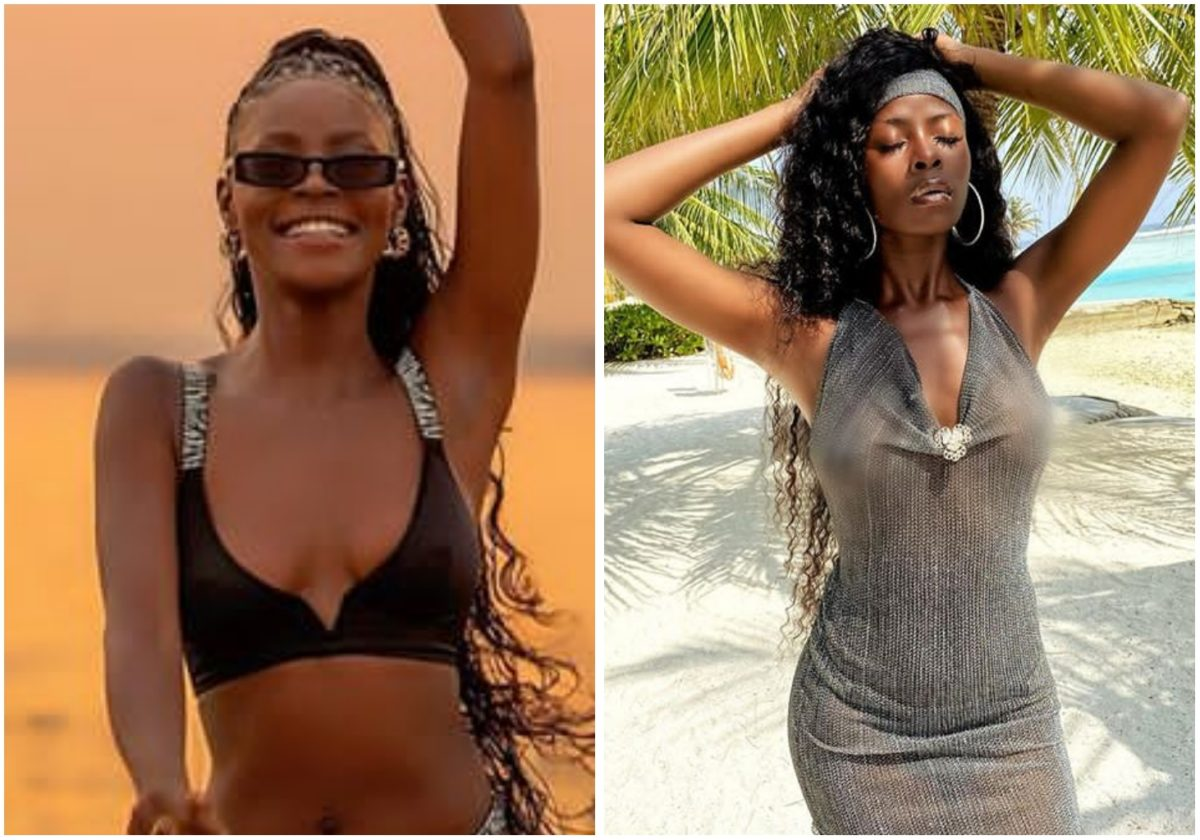 #BBNAIJA: Khloe tempt fans with hot body as she enjoy time out at Maldives Island (Photo)