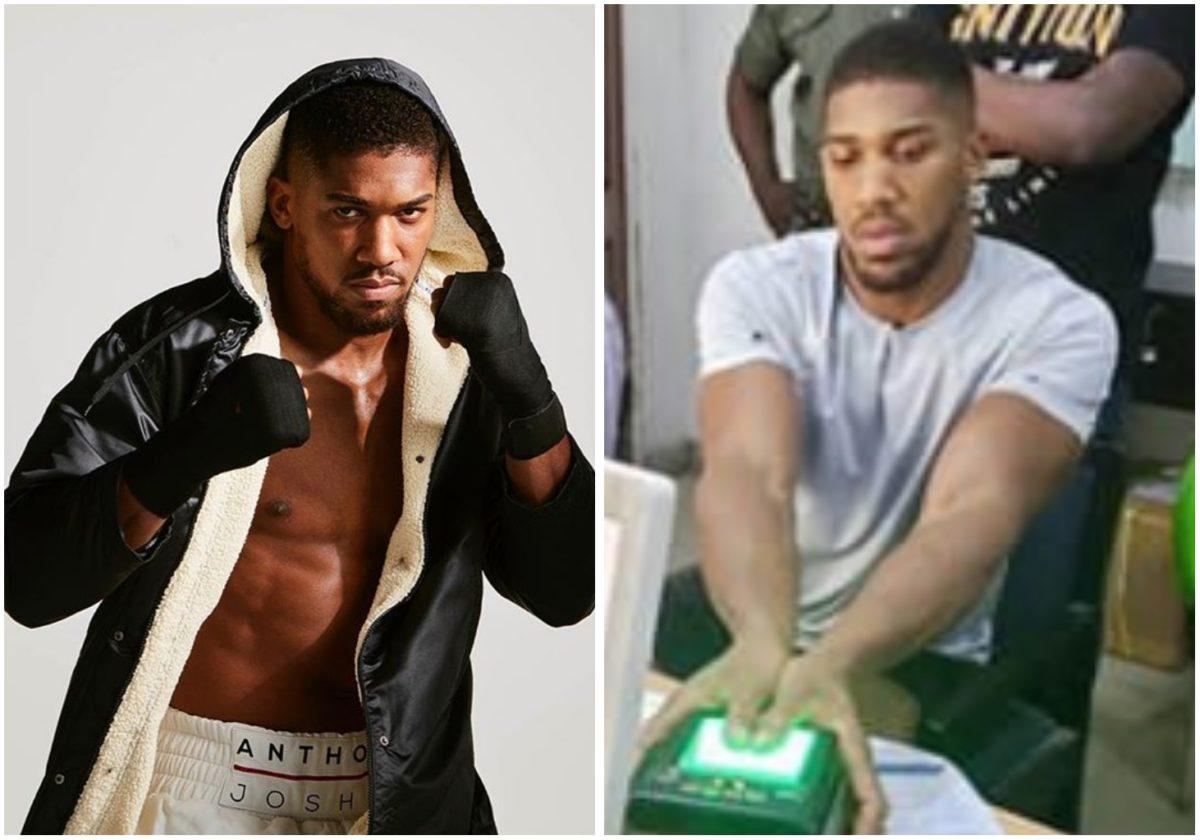 Boxer Anthony Joshua enrolls for Nigerian National Identity Number (Photo)