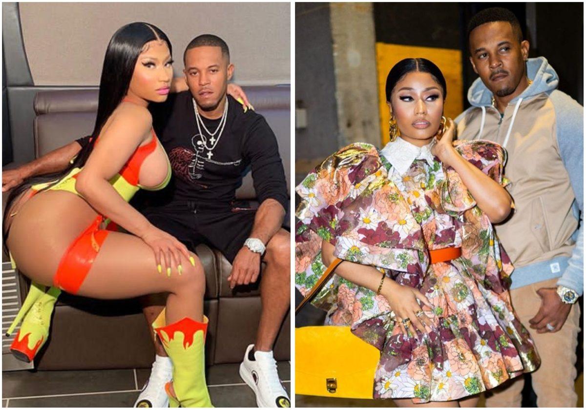 Nicki Minaj sparks pregnancy rumour as husband rubs her tummy (Video)
