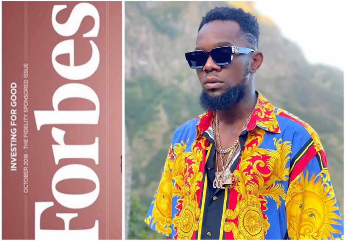 Forbes magazine celebrates Patoranking for launch of his University Scholarship for Youths