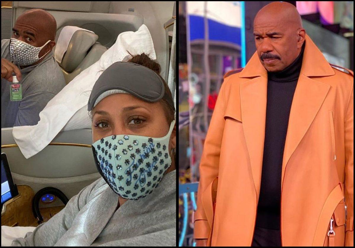 Coronavirus: The Harvey's taking necessary precautions using face mask (Photo)