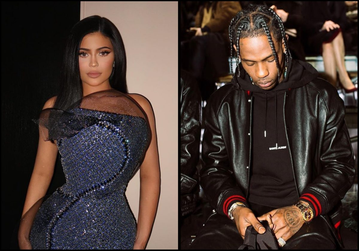 Kylie Jenner and Travis Scott loved up as Travis' alleged side chick shade both lovebirds