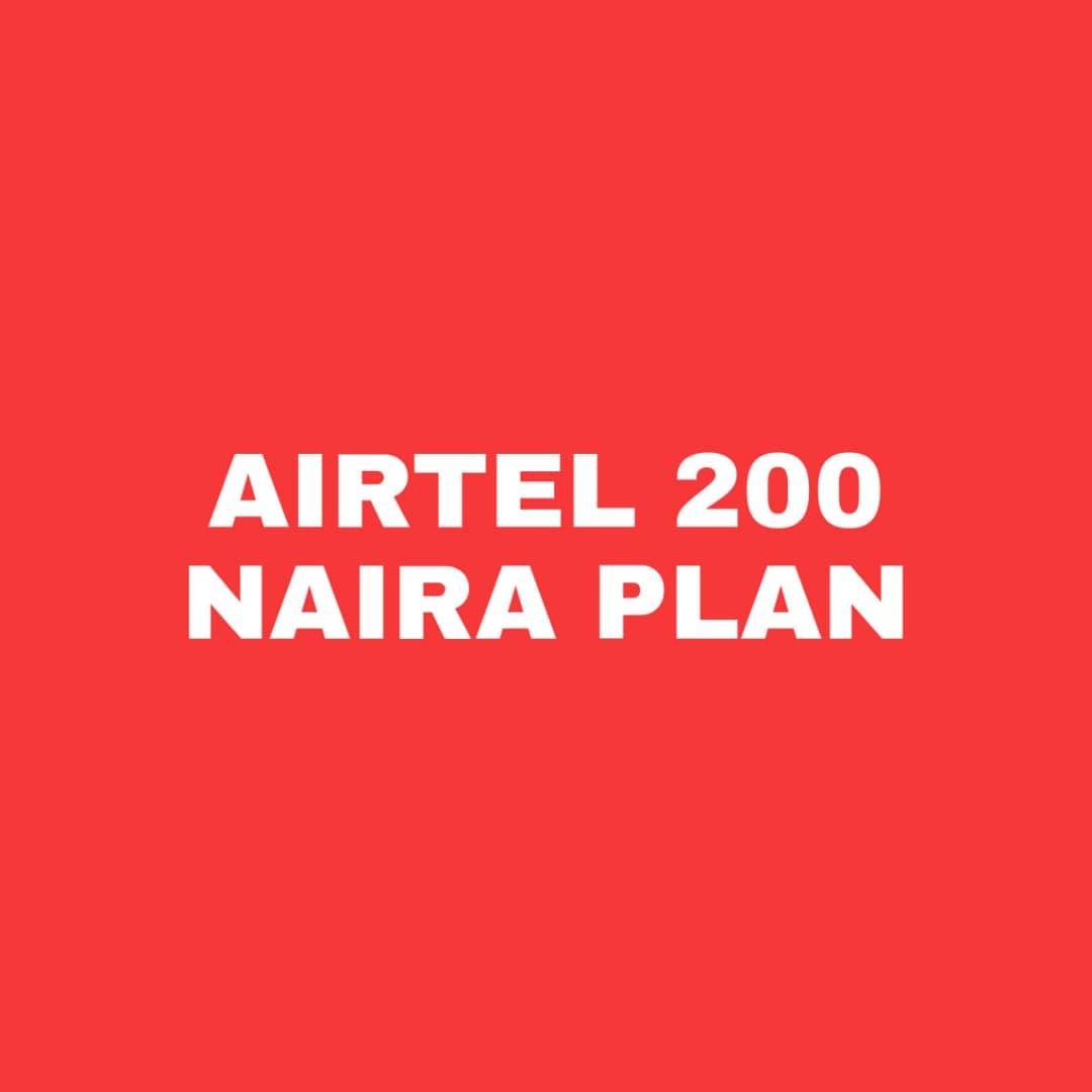 Airtel 200 Naira Data Plan