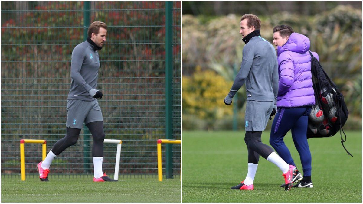 Harry Kane returned to Tottenham training ground
