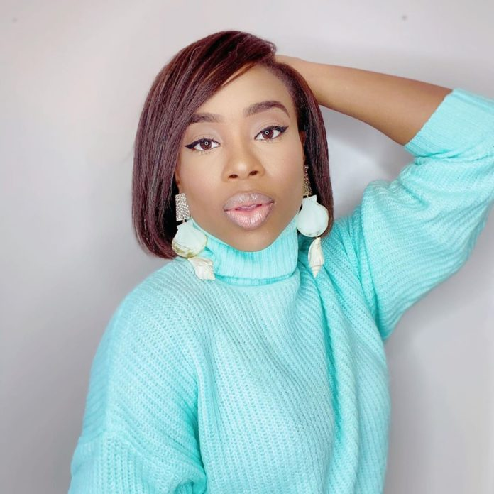 Maria Okan rocked new hair for live IG session