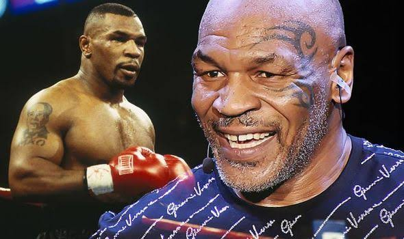 Mike Tyson giving jabs super fast