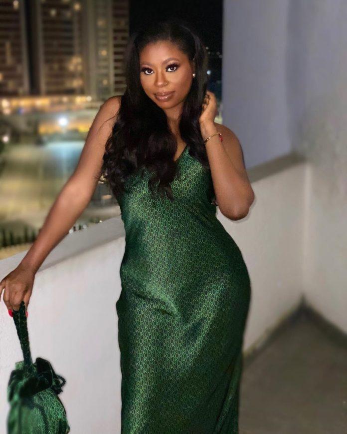 Sophia Momodu Shows off Elegance rocking a greenish Gown