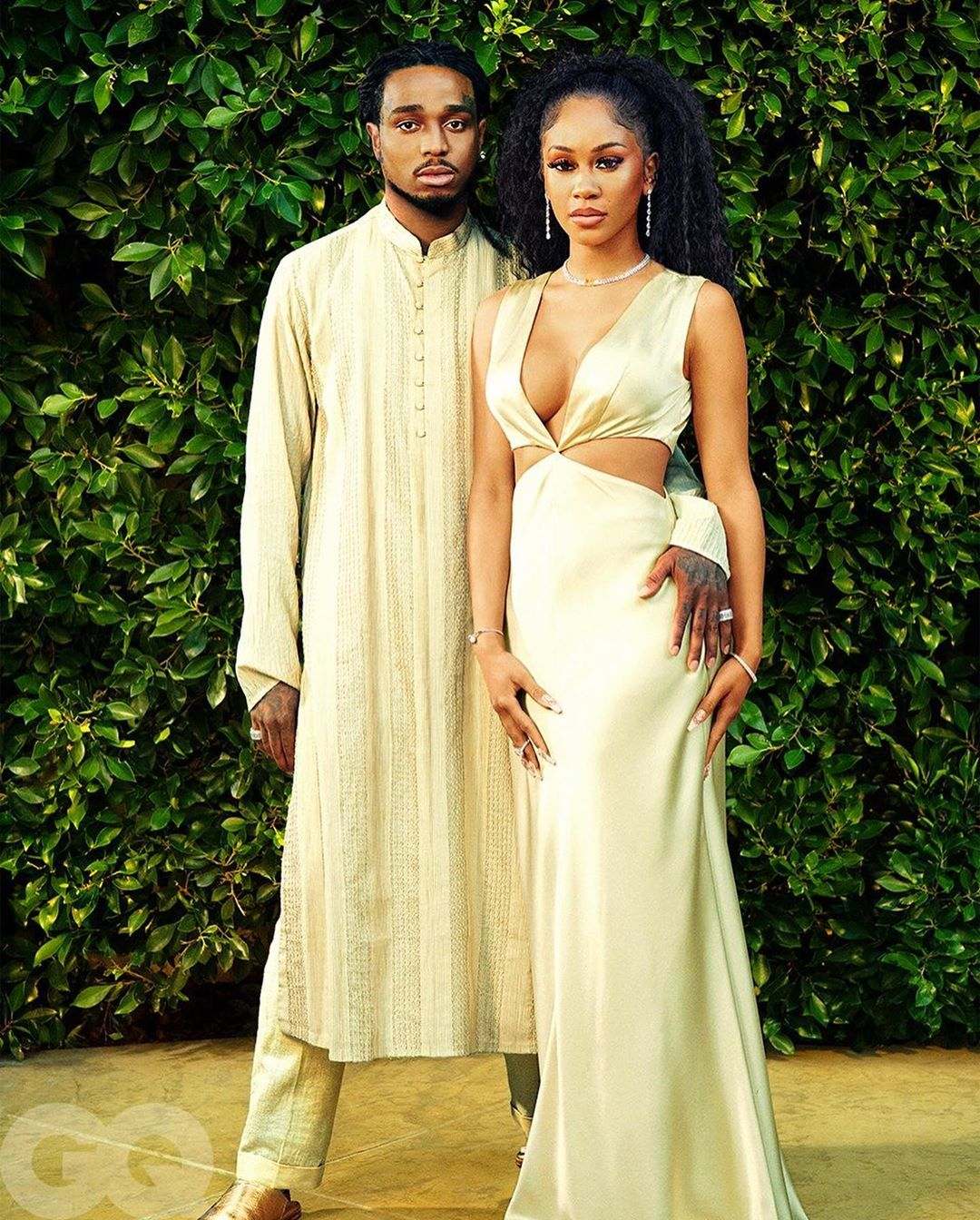 Quavo And His Girlfriend Saweetie Share Their Love Story As They Cover GQ Magazine (Photos)