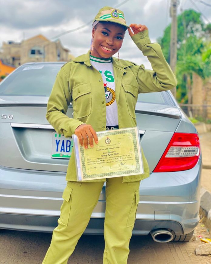 Popular Instagram Comedian Taaooma Completes Her NYSC (Photos)