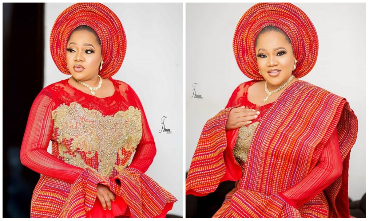 Toyin Abraham celebrates 38th birthday in an amazing fashion statement (Photo)