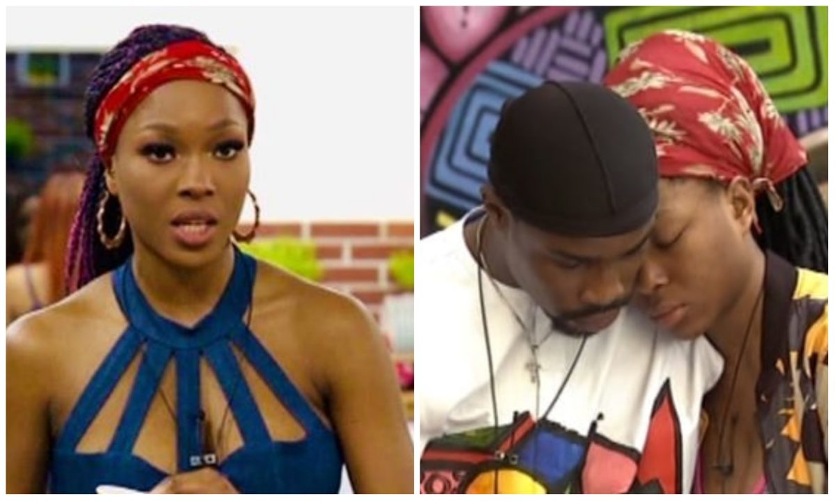 #BBNaija: Vee and Neo exchange heated words, confirms their breakup (Video)