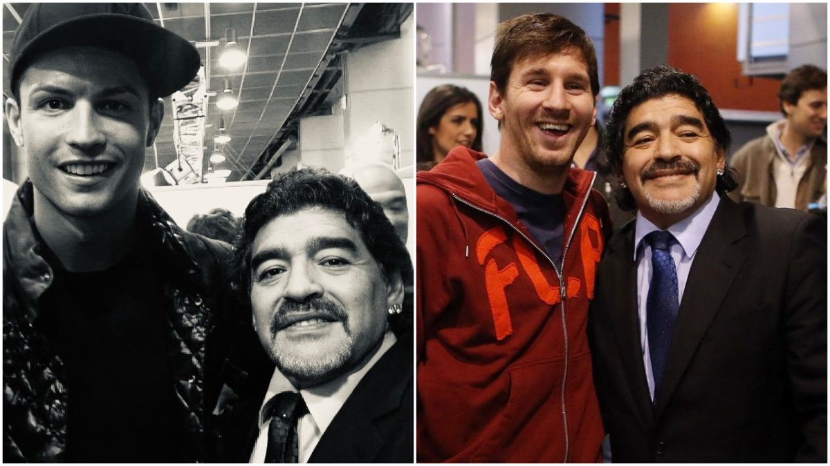 Cristiano Ronaldo and Lionel Messi pays tribute to the late Diego Maradona
