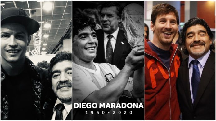 Cristiano Ronaldo and Lionel Messi reacts to the death of Diego Maradona