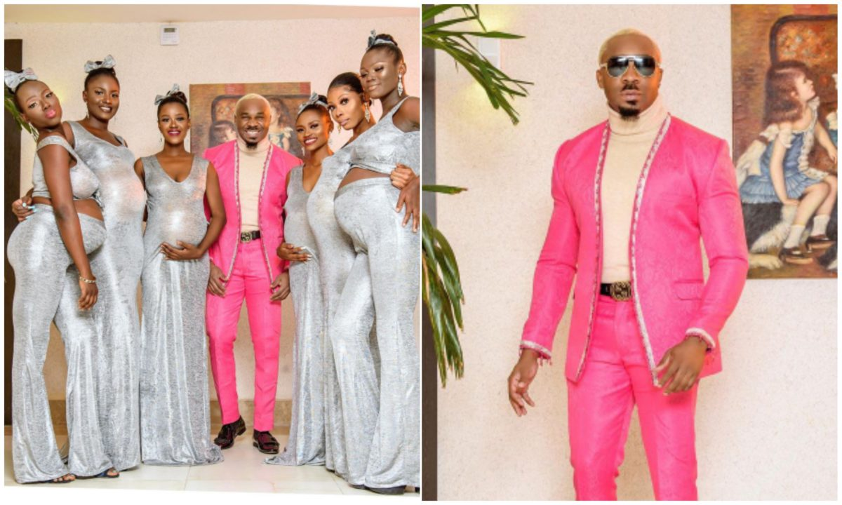 Moment Pretty Mike stormed Williams Uchemba's wedding with 6 pregnant women (Video)
