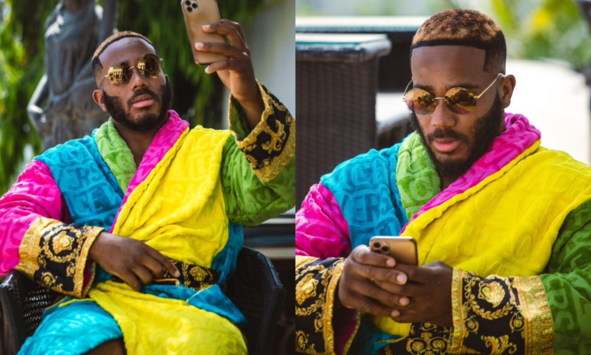 #BBNaija: Kiddwaya shoots for the sky as he shows off his new dazzling look (Photos)